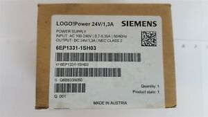 Siemens 6EP1331-1SH03 Power Supply In: 100-240VAC 50/60Hz Out: 24VDC New Sealed