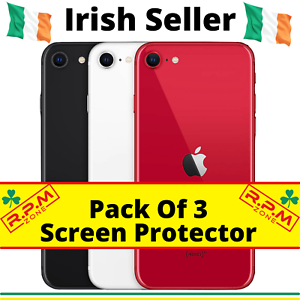 Screen Protector iPhone 11 Pro Max X XS XR 6 7 8 PLUS SE 2 Tempered Glass 3 PACK