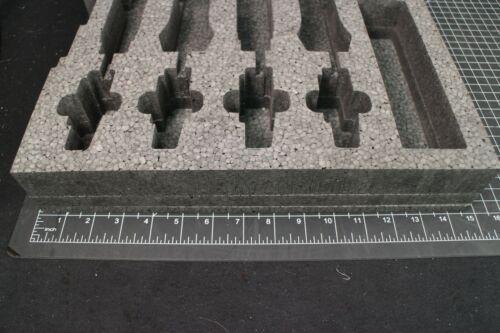 Custom Foam Insert 4 wireless mic insert for 2U rack drawer