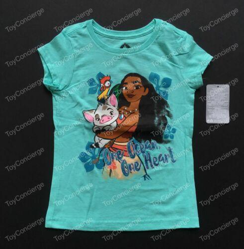 "DISNEY Store TEE for Girls MOANA /""One Ocean One Heart/"" PUA T Shirt PICK Size NWT"