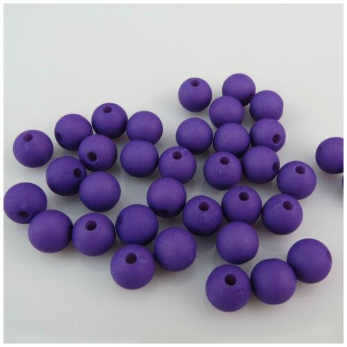 100pcs X 8 Mm De Acrílico Opaco Heart /& Ronda forsted Beads-elige Los Colores