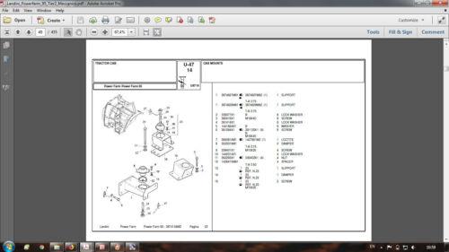 Landini Powerfarm 95 Tier 2 Meccanico parts catalog in PDF format