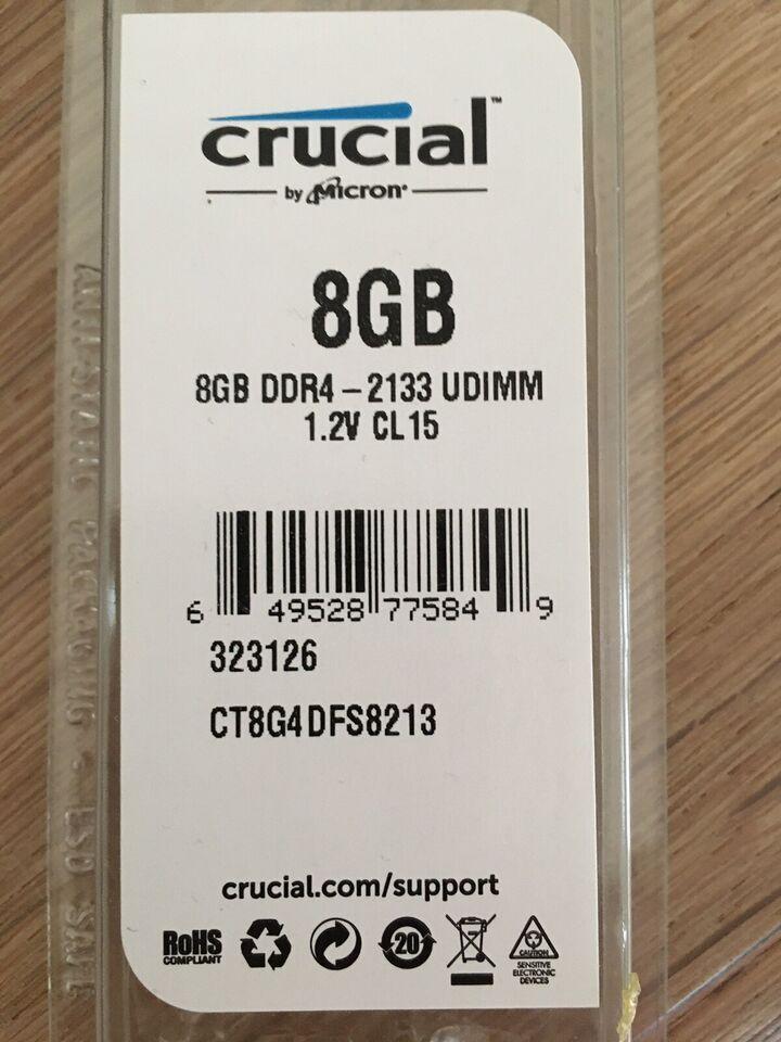Crucial, 8GB, DDR4 SDRAM