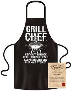 grillsch rze f r m nner grill chef urkunde lustig fun spr che motiv schwarz ebay