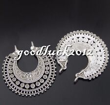 Antique Silver Alloy Hollow Snow Flower Beauty Charms Pendants Crafts 6x 50758