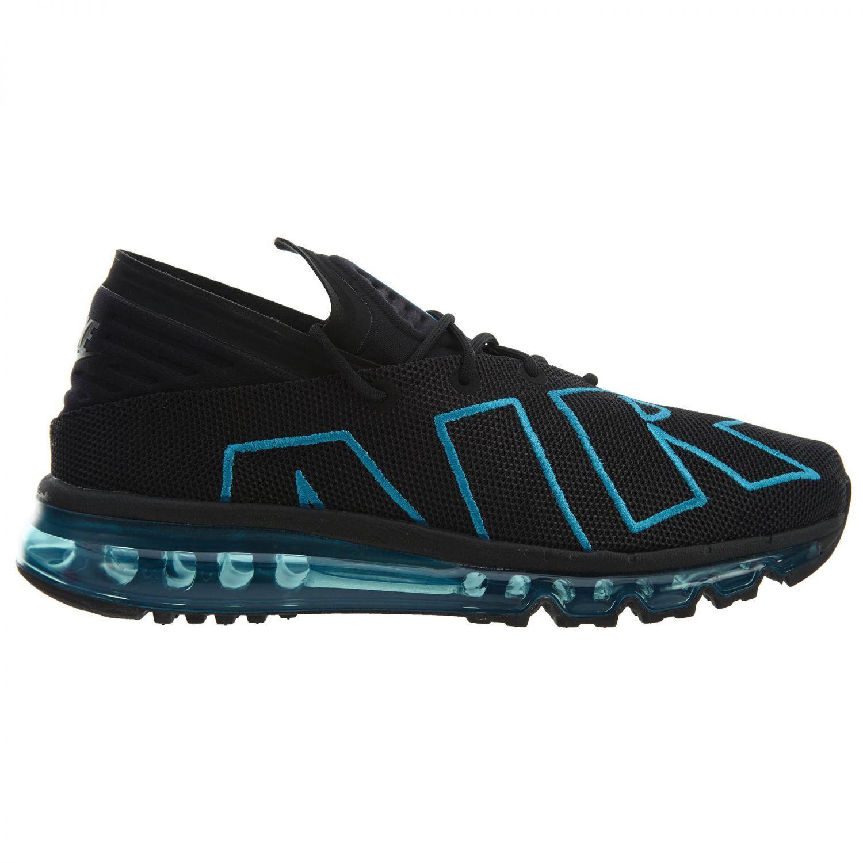 Nike air max flair mens 942236-010 schwarzen neo - türkisen schuhe größe 8,5