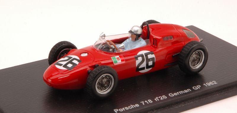 Porsche 718  vacvoitureella 1962  26 15th Gerhomme  Gp 1 43 Spark s1863 Model  économisez jusqu'à 30-50%