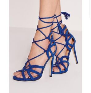 074de839a02a Image is loading Women-039-s-shoes-Missguided-Lace-Gladiator-Suede-