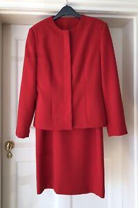Principles-Petite-UK12-Two-Piece-Red-Jacket-amp-Dress