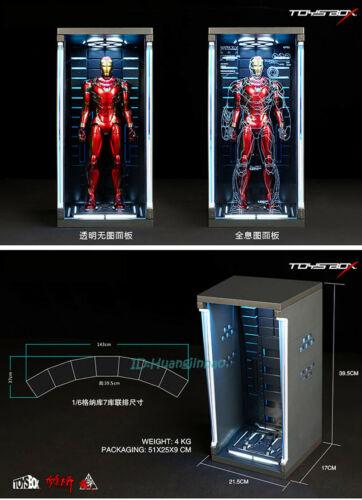 1//6 Scale Iron Man Acrylc Hall Of Armor Hangar Transparent Display Box ToyBox