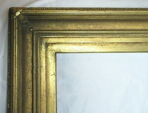 "BIG FITS 22"" X 27"" GOLD GILT ORNATE WOOD PICTURE FRAME FINE ART 1845 VICTORIAN"