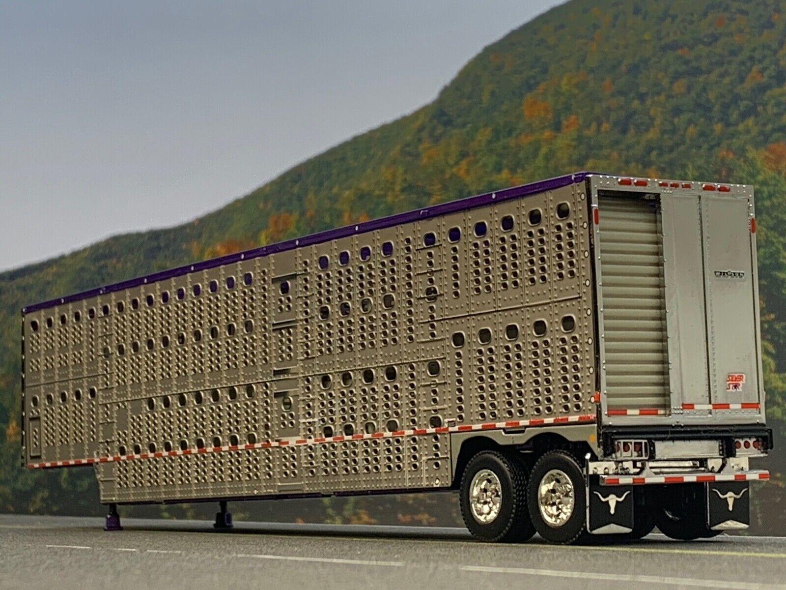 1 64 DCP Lila Top Wilson Tandem Achse Rinder Anhänger