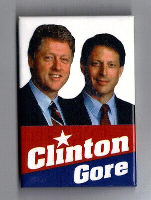 "xmas 1992 Bill Clinton /& Al Gore 1.75/""// /""OFFICIAL/"" Presidential Campaign Button"