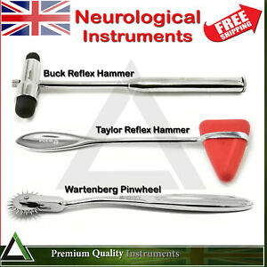 Neurological-Instruments-Buck-amp-Taylor-Reflexes-Hammers-Wartenberg-Pin-Wheel