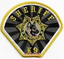 """*NEW*  Del Norte Co fire shoulder police patch CA Sheriff  K-9 4.25/"""" x 4/"""""""