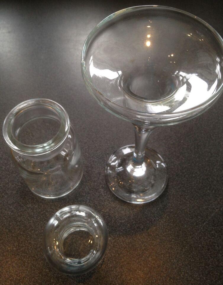 Glas, LYSESTAGE OG KRUKKE