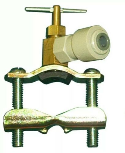 """HHD G75 1//4/"""" Quick Connect Self Piercing Self Tapping Saddle Water Valve"""