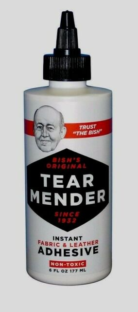 ***TEAR MENDER*** Instant Fabric & Leather Adhesive Non-Toxic Glue 6oz TG-6 NEW!
