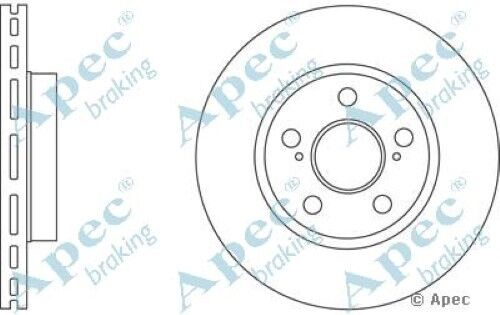 Pair 1x OE Quality Replacement Front Axle Apec Vented Brake Disc 5 Stud 255mm