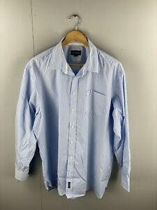 Gazman-Men-s-Long-Sleeve-Shirt-with-Front-Pocket-Size-2XL-Blue-White-Stripe