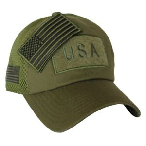 Olive Drab US American Flag Patch Baseball Hat Tactical Operator ... 4ab1c085336