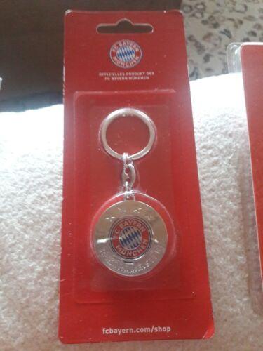FC Bayern München 4 Sterne Schlüsselanhänger mit Einkaufschip NEU/&OVP