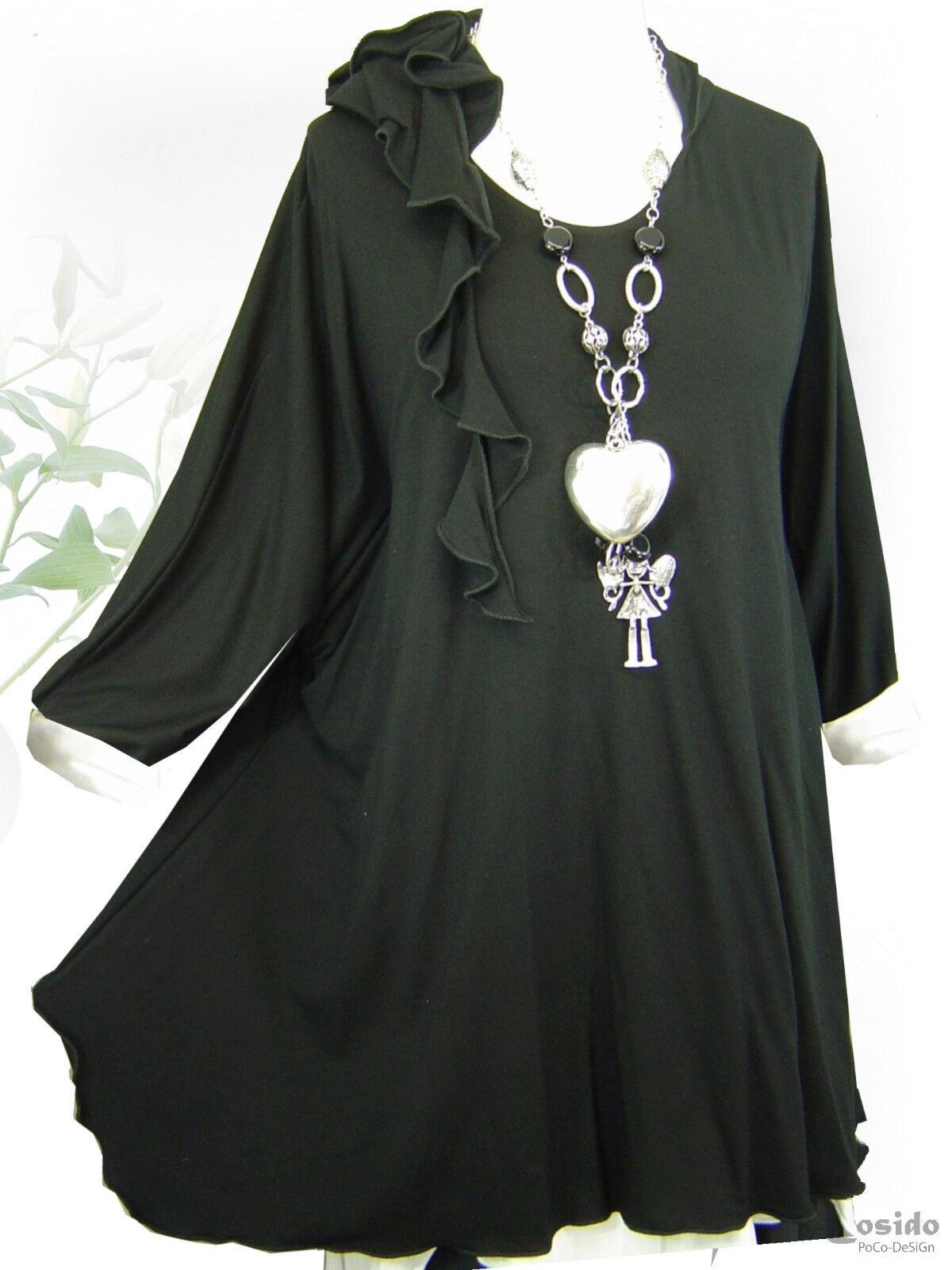 PoCo DeSiGn LAGENLOOK Hoodie Basic Long-Shirt Tunika Zipfelkapuze L XL XXL XXXL