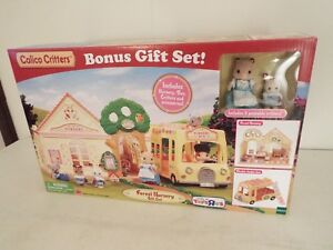 New Calico Critters Forest Nursery Gift Set Playset 2017