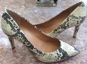 79334bf5d7d2 J. Crew Snakeskin Leather Pointed Toe Heel Classic Pumps Shoes Sz 6 ...