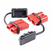 Quick Connector Plug For 12v Winch Trailer Driver 6-10 Awg 120a Connect Battery