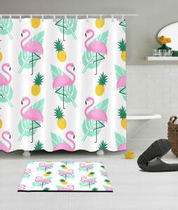 Shower Curtain Set 180cm Fabric Liner