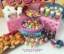 Littlest Pet Shop *6 PC Lot* Random LPS Accessories Ice Cream Food Starbucks ❤️