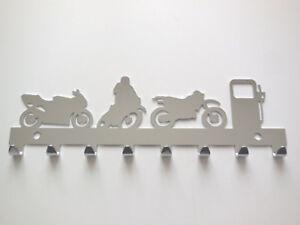 Schluesselbrett-Harley-Motorrad-Schluessel-8-Haken-Metall-verchromt-MP4293