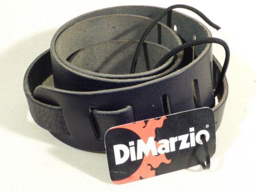 DiMarzio DD3212 Italian Leather Acoustic Guitar Strap in Black