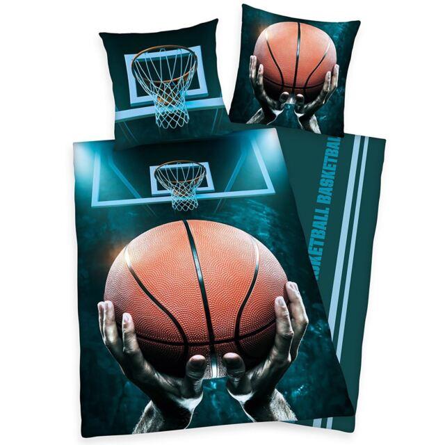Baloncesto Conjunto de Funda Nórdica Individual Ropa Cama Reversible 100% Cotton