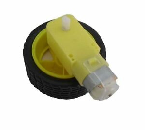 smart Car Robot Plastic Tire Wheel with DC 3-6v Gear Motor for arduino  889787985591