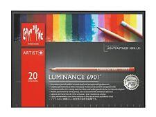 CARAN D'ACHE LUMINANCE 6901 COLOUR PENCILS - Box of 20 colour pencils