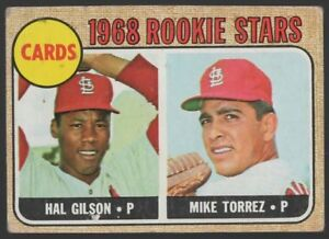 1968-TOPPS-162-ROOKIE-STARS-HAL-GILSON-MIKE-TORREZ-ROOKIE-CARD-VG-EX-4