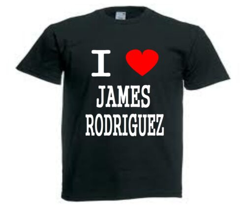 T-SHIRT  I LOVE JAMES RODRIGUEZ colombie real S a XXL homme neuf