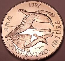 Massive Gem Unc Falkland Islands 1997 50 Pence~WWF Conserving Nature~Free Ship