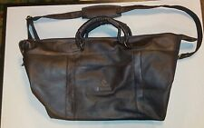 gorgeouse chocolate color leather  boys and girls club microsoft tote bag