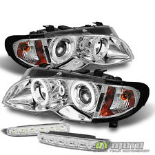 2002-2005 BMW E46 3-Series 4Dr Sedan Halo Projector Headlights+Smd Bumper Lights