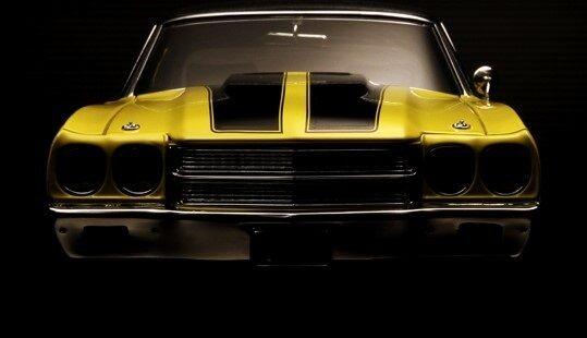 Chevy Chevelle 1970 1 Chevrolet Coche 24 arrastrar 18 carrera 12 carrusel amarillo 454 Sport