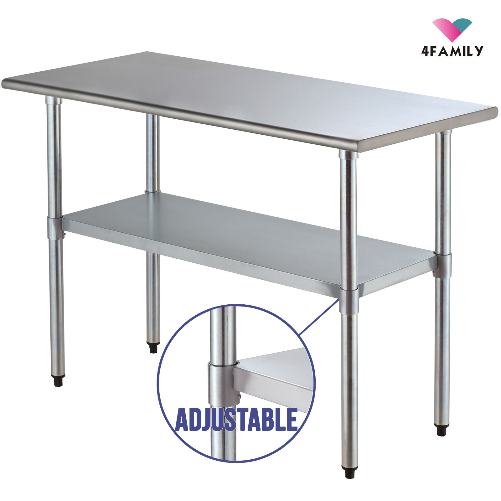 24 X 48 Commercial Stainless Steel Work Food Prep Table Kitchen Restaurant Ebay