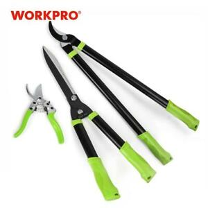 Garden Tools Set Stainless Steel Heavy Duty Pruning Shears 3pc Set