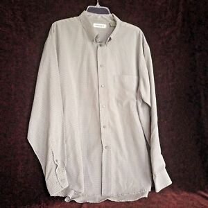 Chereskin-Mens-Extra-Large-Shirt-Green-Plaid-Long-Sleeve-Dress-Shirt