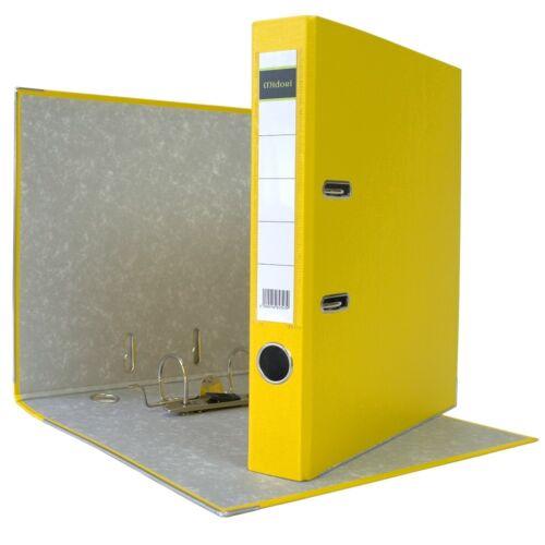 7 x Akten-Ordner PP A4 50 mm Gelb Kunststoff Archiv Büroordner Ringordner