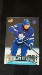 Auston-Matthews-CC15-Clear-Cut-Phenoms-Tim-Hortons-2018-19-Upper-Deck-Hockey