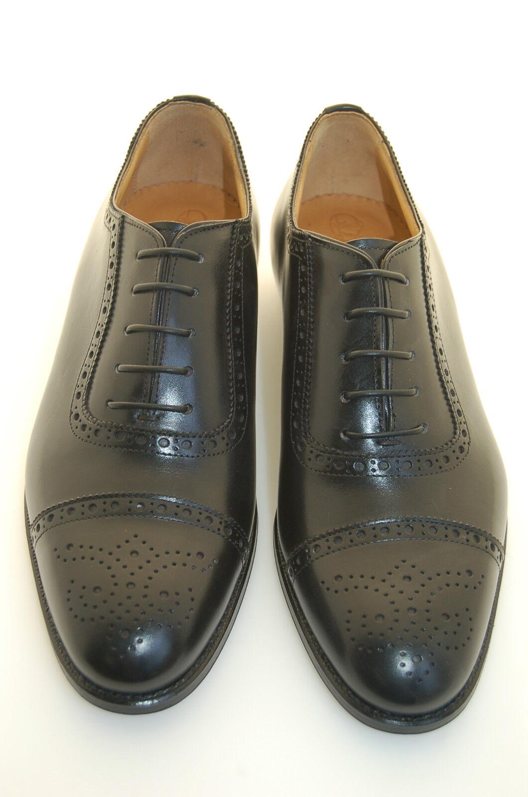 MAN MAN MAN - 39 - 5eu - OXFORD CAPTOE PERFS & MED- schwarz CALF-LEATHER SOLE BLAKE CSTR. 0fa808