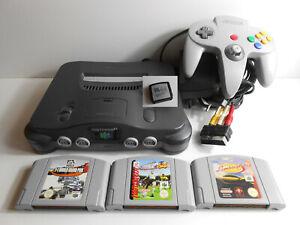 Nintendo 64 / N64 + Controller + Kabel + 3 Spiele